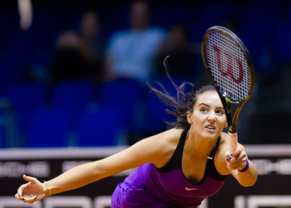 STUTTGART, GERMANY - APRIL 17 : Laura Robson in action at the 2016 Porsche Tennis Grand Prix