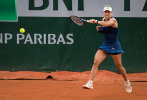 Angelique Kerber in the second round at Roland Garros, 2018