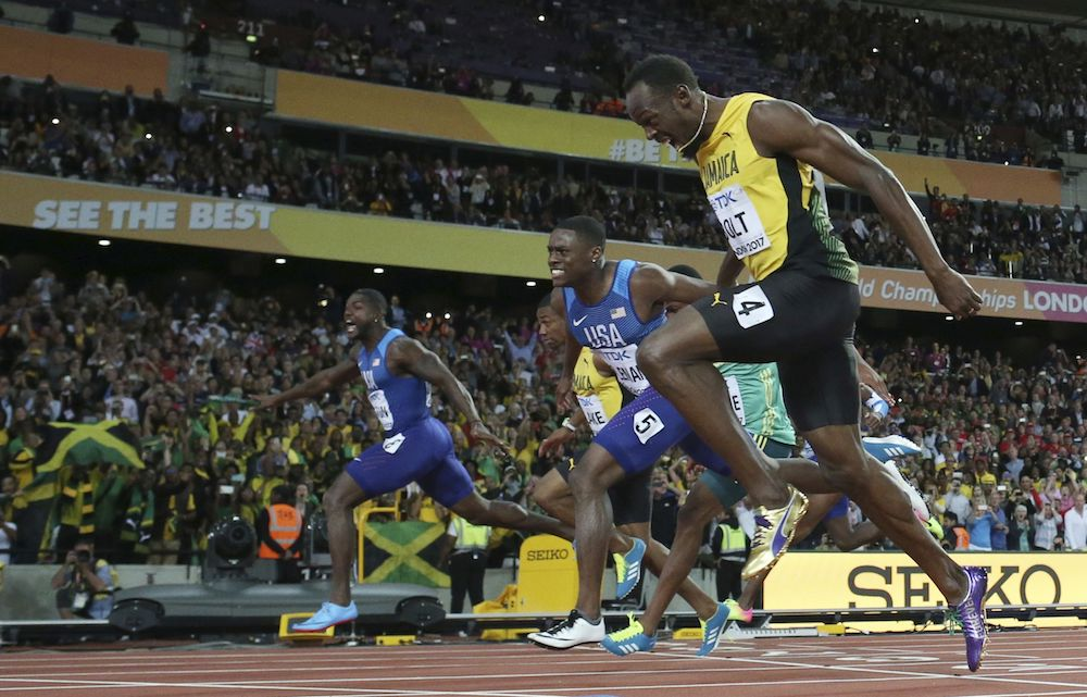 Usain Bolt, Christian Coleman, Justin Gatlin, IAAF World Athletics Championships, London 2017