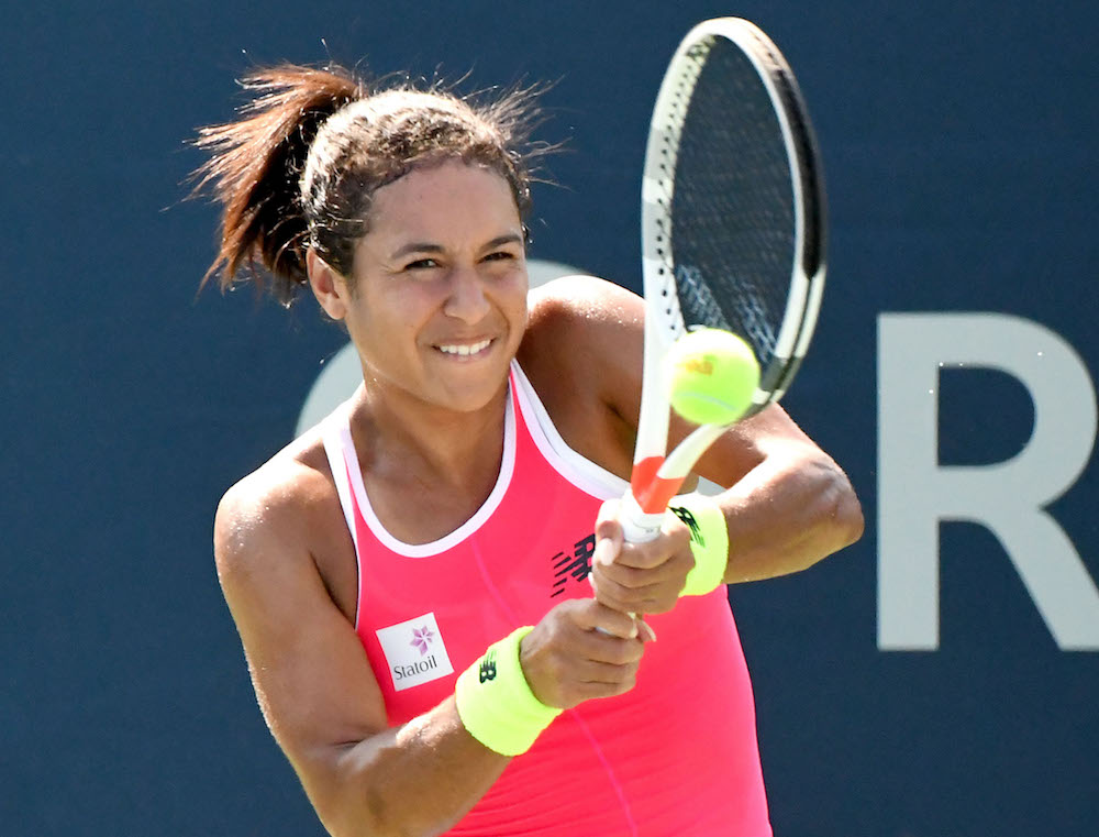 Heather Watson in action WTA Toronto Rogers Cup 2017
