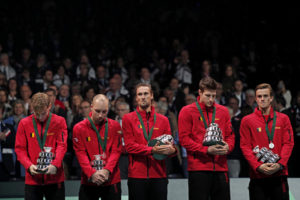 Belgium lose to France in the Davis Cup final, 2017