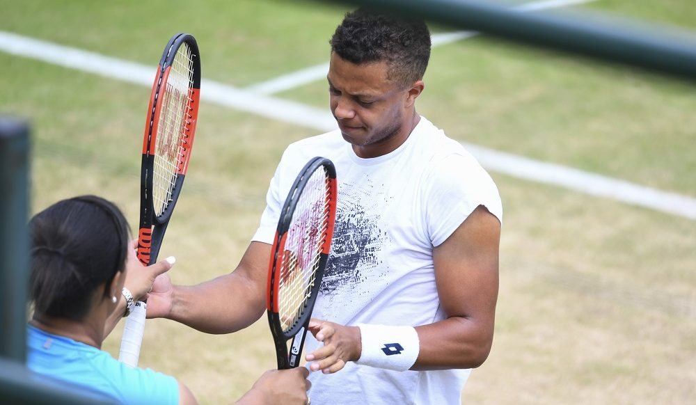 Jay Clarke at the Wimbledon practice courts, 2017