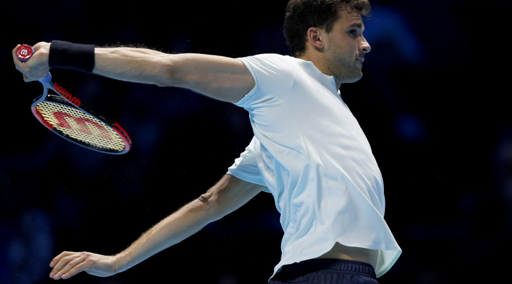 Grigor Dimitrov at the 2017 Nitto ATP Finals, London