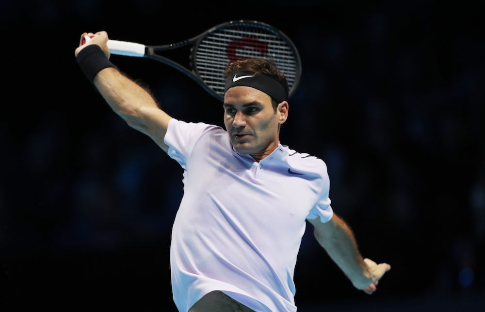 Roger Federer at the 2017 Nitto ATP World Tour Finals, London