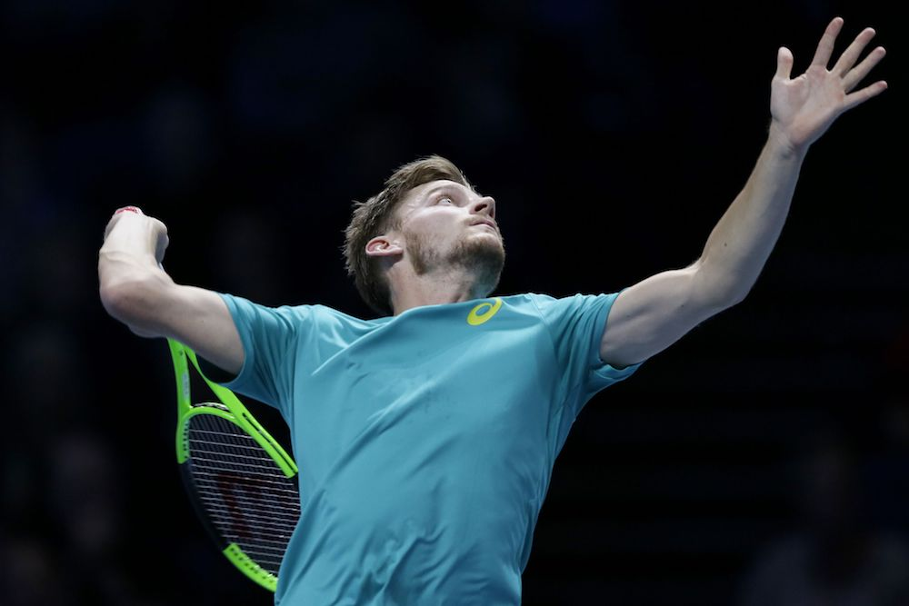 David Goffin at the 2017 Nitto ATP Finals, London