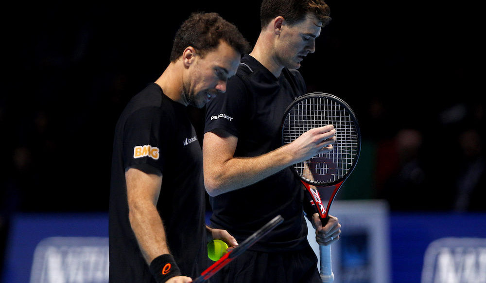Jamie Murray & Bruno Soares in the semi-final of the 2017 Nitto ATP Finals, London