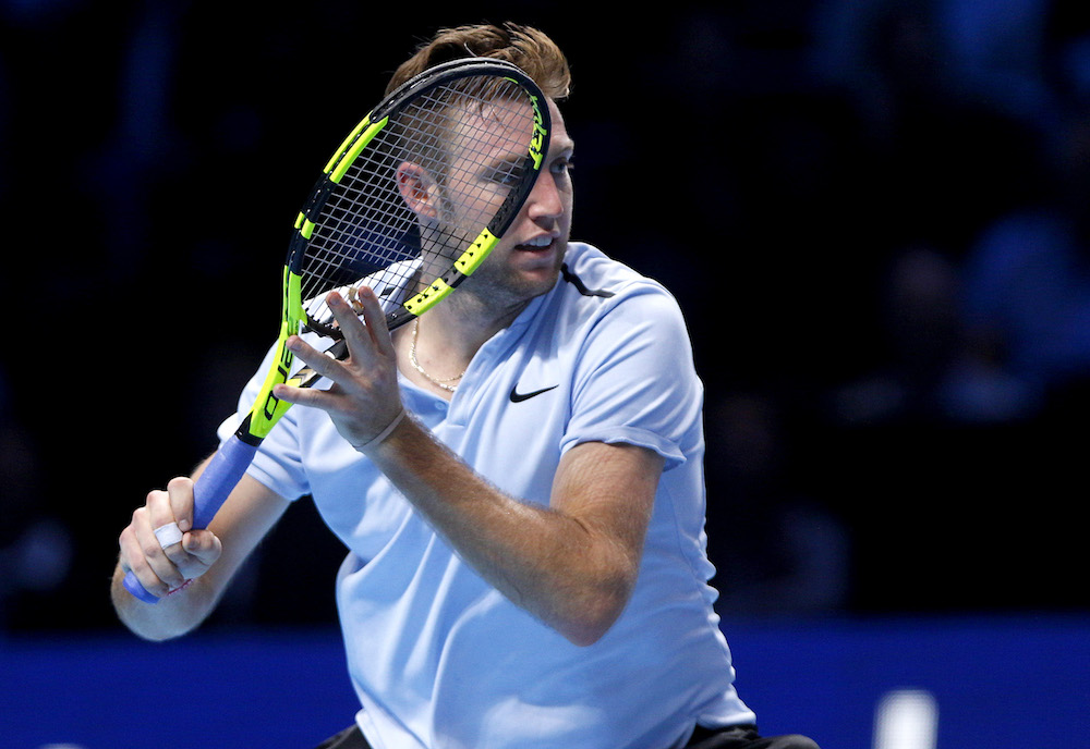 Jack Sock at the 2017 Nitto ATP World Tour Finals, London