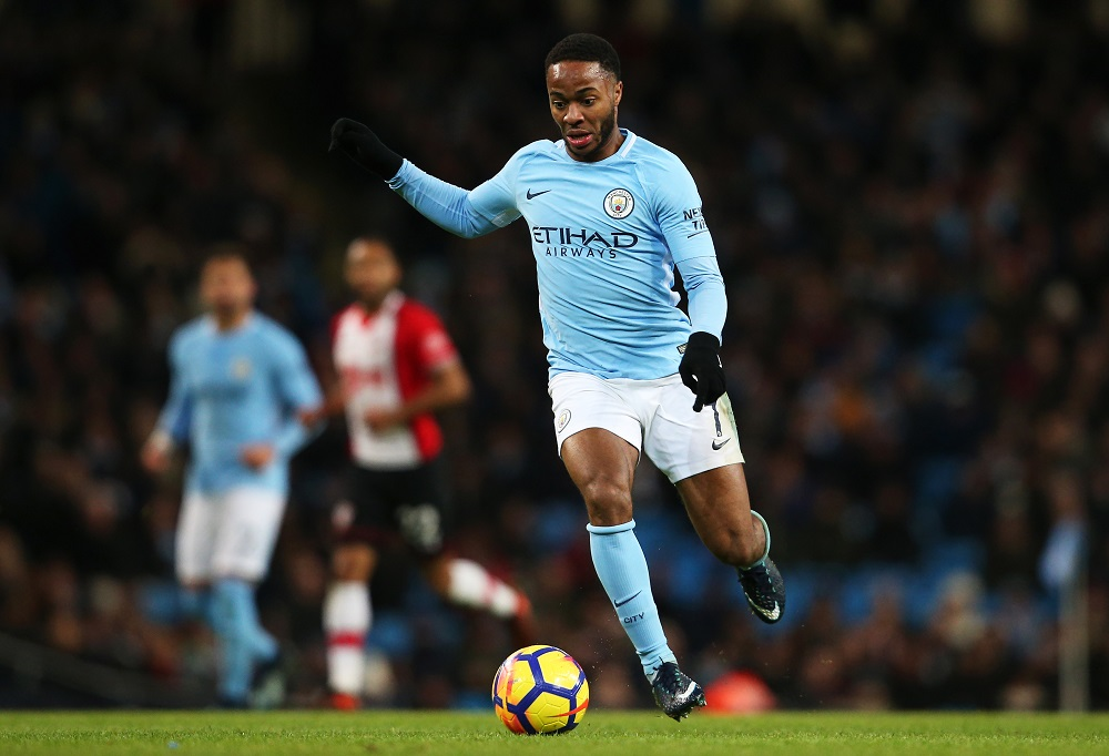 Raheem Sterling, Manchester City v Southampton, November 2017