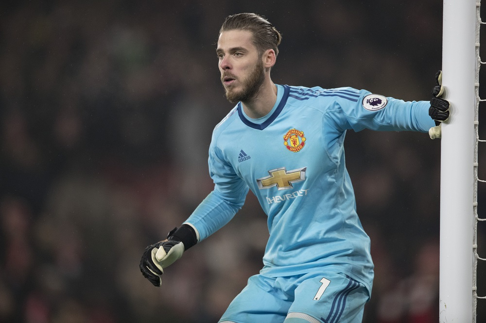 David de Gea of Manchester United Premier League, Arsenal v Manchester United, December 2017