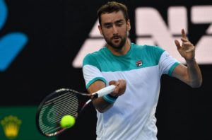 Marin Cilic in the quarter-final of the Australian Open, 2018