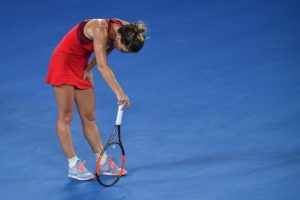 Simona Halep in the final of the Australian Open, 2018