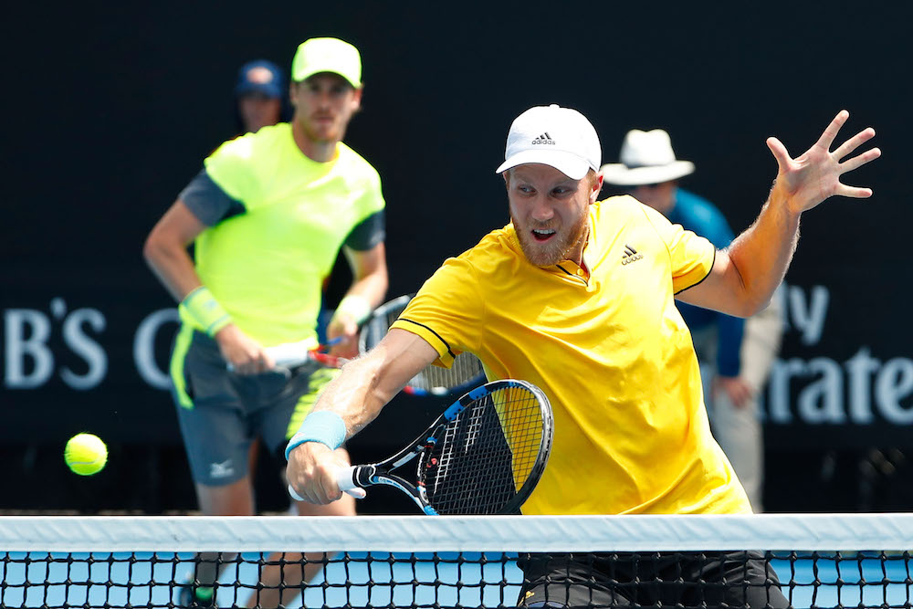 Dominic Inglot and Marcus Daniell in the Australian Open, 2018