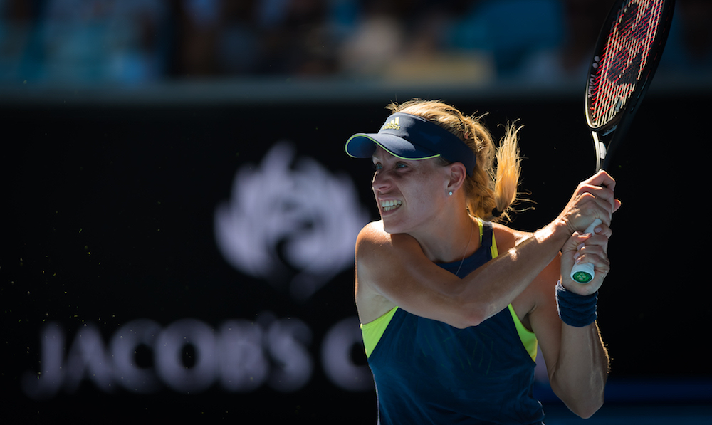 Angelique Kerber in the second round of the Australian Open, 2018