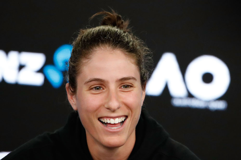 Johanna Konta of Great Britain Pre-Tournament press Conference, Australian Open 2018
