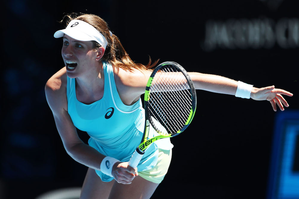 Johanna Konta at the Australian Open 2018