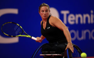 Lucy Shuker at The NEC Wheelchair Tennis Masters 2017
