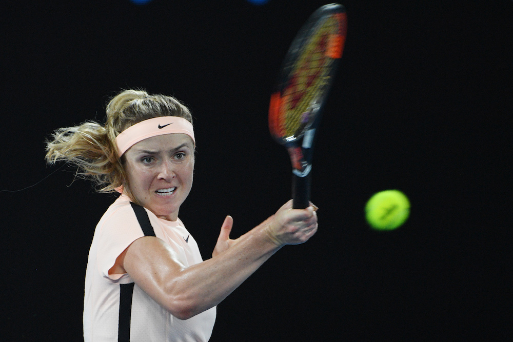 Elina Svitolina in the fourth round of the Australian Open 2018