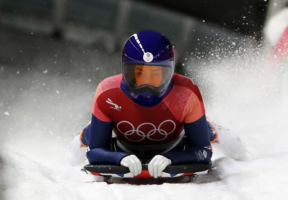 Laura Deas wins with Bronze in the Skeleton, PyeongChang Winter Olympics 2018