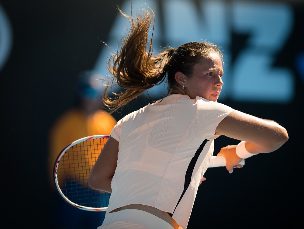 Daria Kasatkina at the 2018 Australian Open