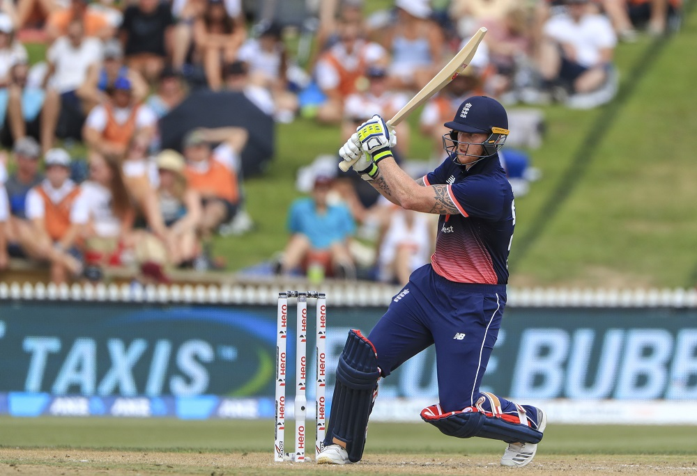 Ben Stokes in the 2nd ODI between New Zealand and England, 2018