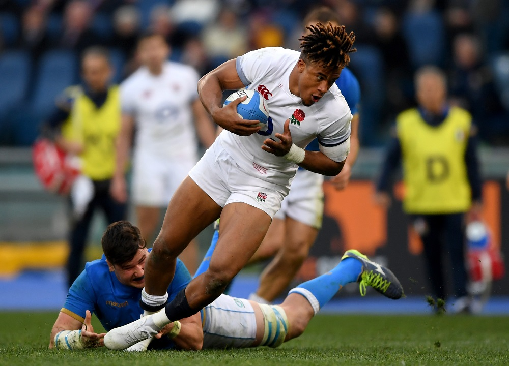 Anthony Watson (ENG) in the NatWest Six Nations against Italy, 2018
