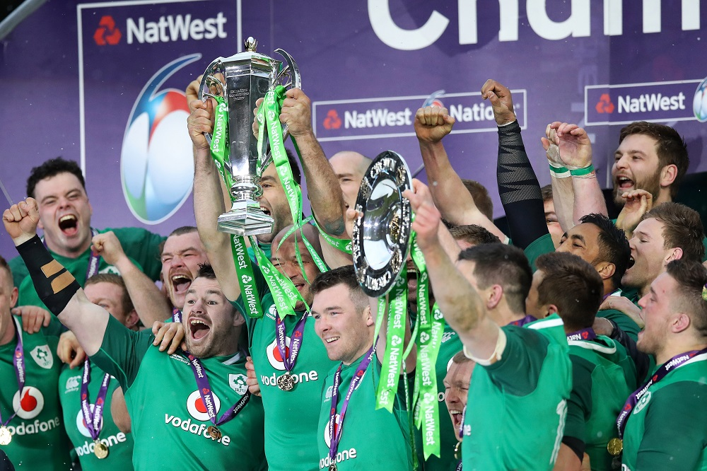 Ireland lift the Natwest 6 Nations Trophy & Triple Crown, 2018
