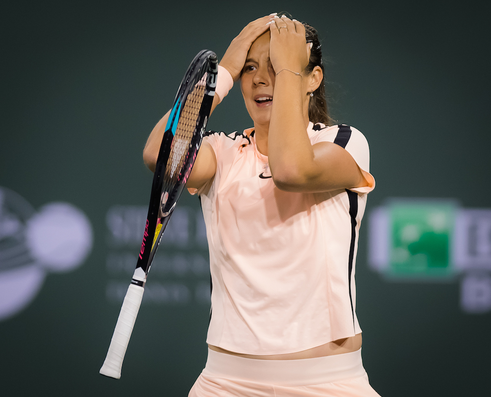Daria Kasatkina in the semi-final of the BNP Paribas Open, WTA Indian Wells 2018