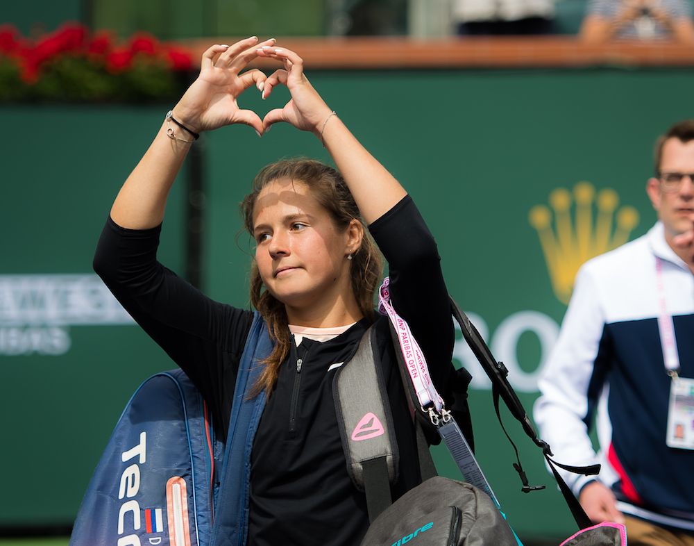 Daria Kasatkina after the final of the BNP Paribas Open WTA Indian Wells 2018