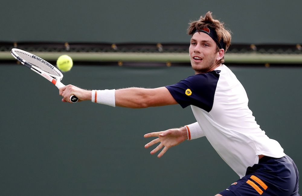 Cameron Norrie in the first round of the BNP Paribas Open, ATP Indian Wells 2018