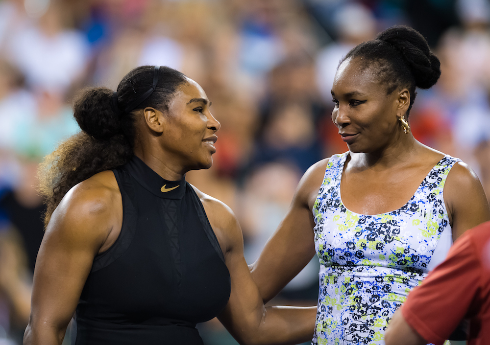 Serena and Venus Williams in the third round of the BNP Paribas Open, WTA Indian Wells 2018