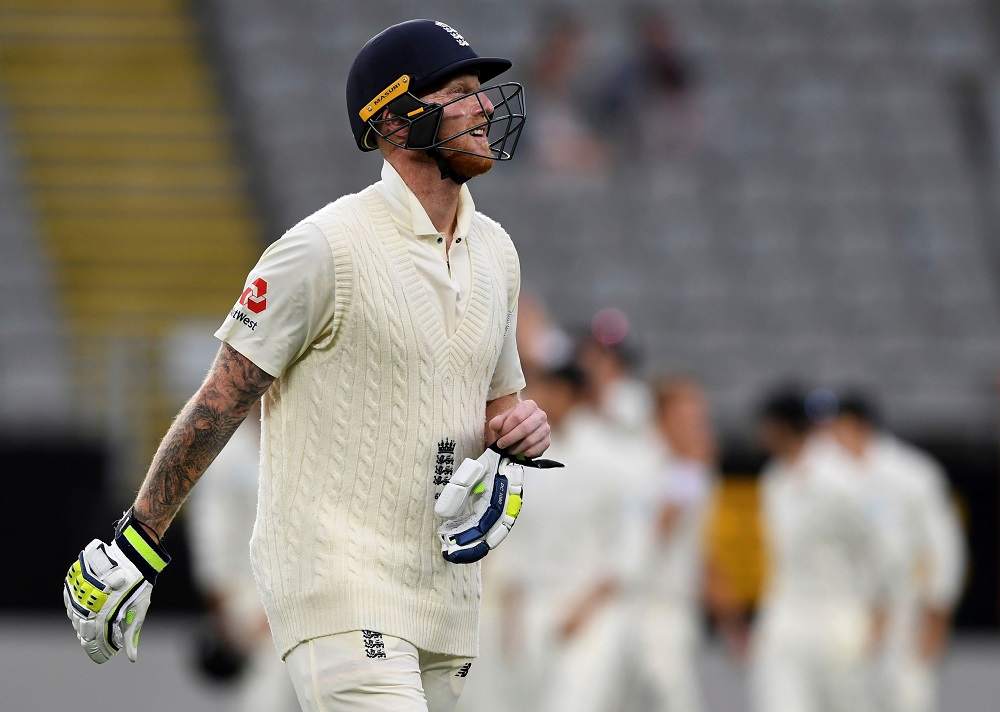 Ben Stokes in the first test New Zealand v England 2018