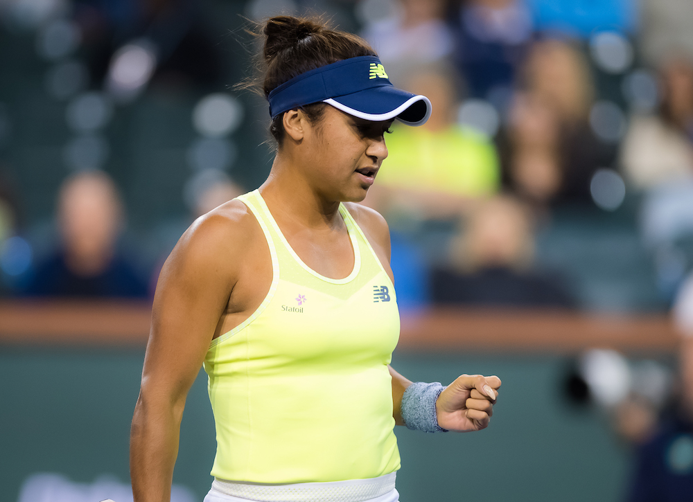 Heather Watson in the first round at the BNP Paribas Open, WTA Indian Wells 2018