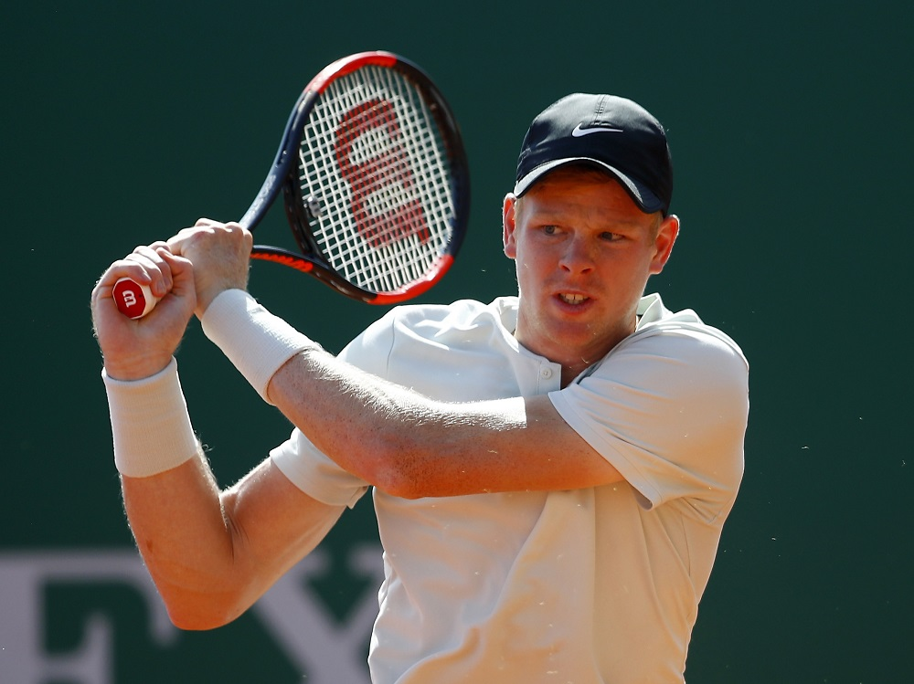 Kyle Edmund in the first round of the Monte Carlo Rolex Masters, ATP Monte Carlo 2018