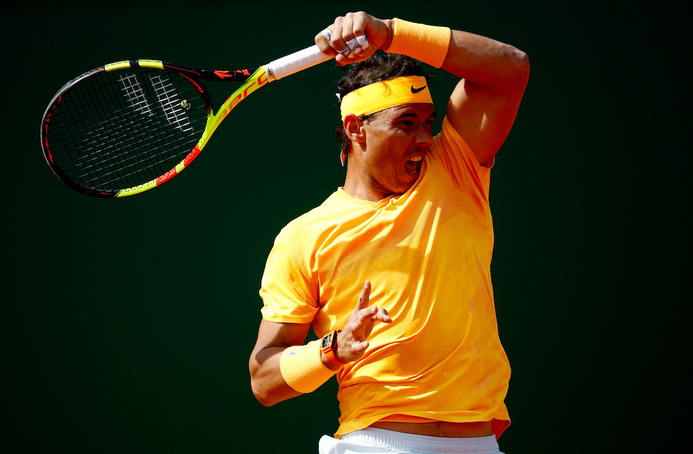 Rafael Nadal in the second round of the Monte Carlo Rolex Masters, ATP Monte Carlo 2018
