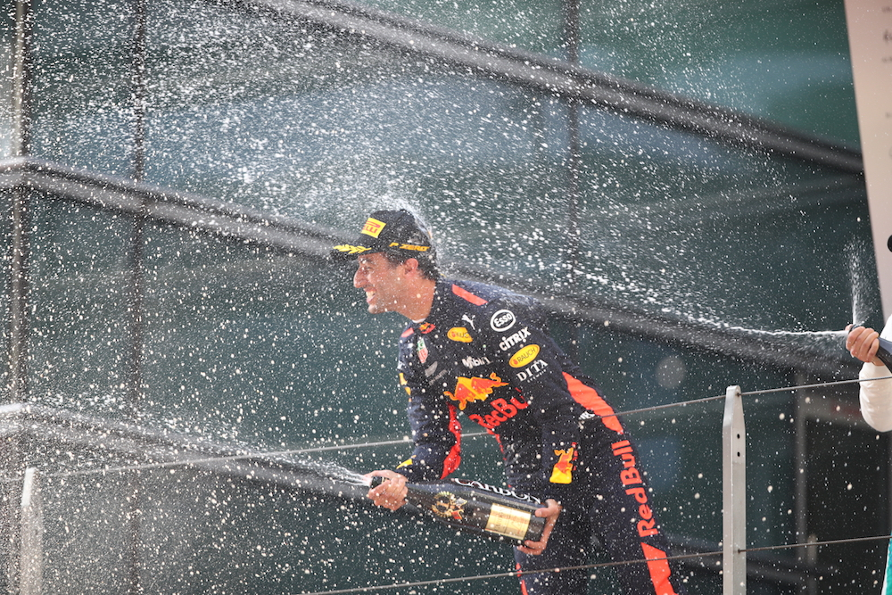 Daniel Ricciardo after winning the Chinese Grand Prix 2018