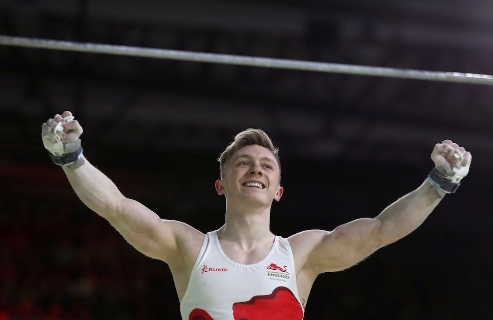 Nile Wilson in the Men's High Bar, Commonwealth Games 2018