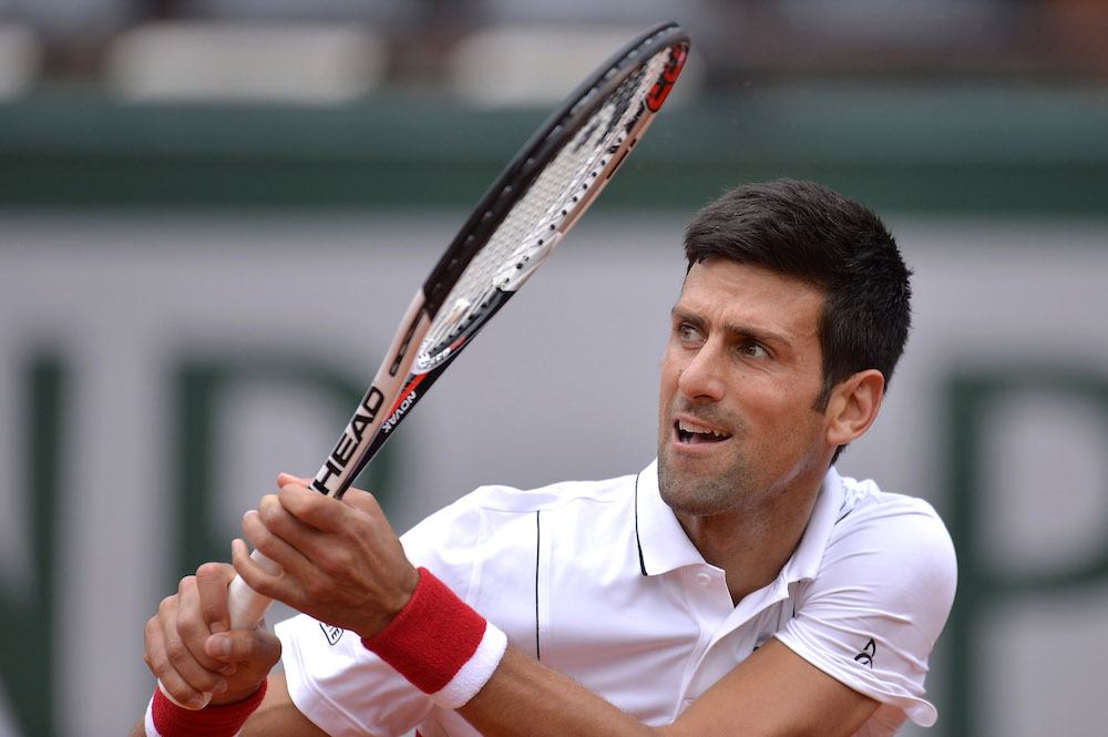 Novak Djokovic in the first round at Roland Garros, 2-018