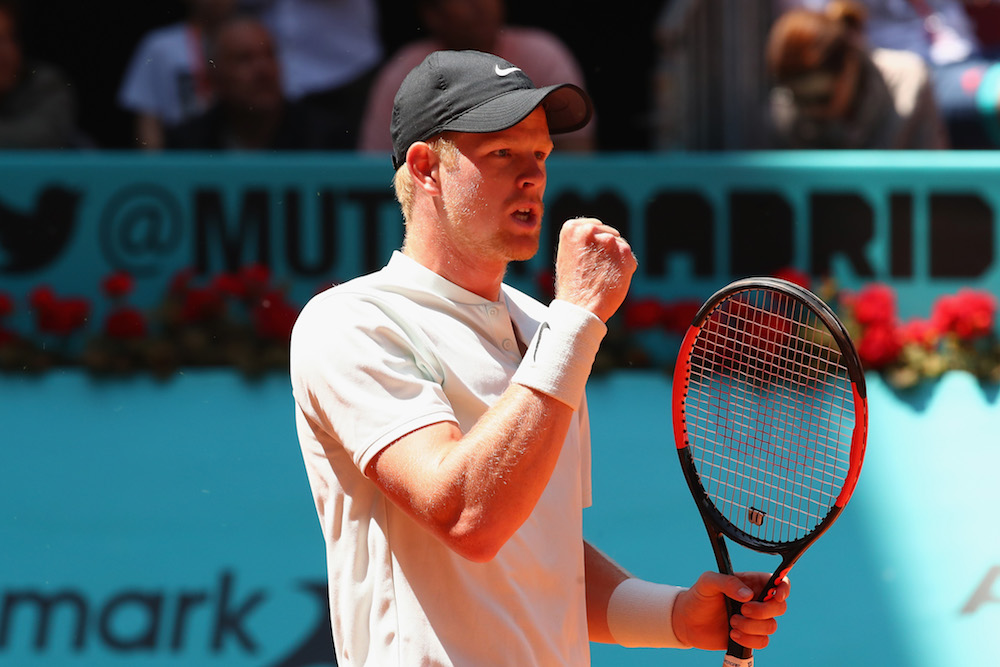Kyle Edmund in the third round of the ATP Mutua Madrid Open, 2018