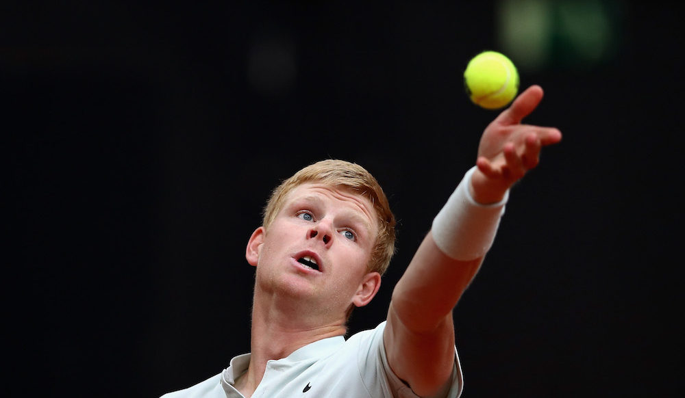 Kyle Edmund in the ATP Mutua Madrid Open quarter-final, 2018