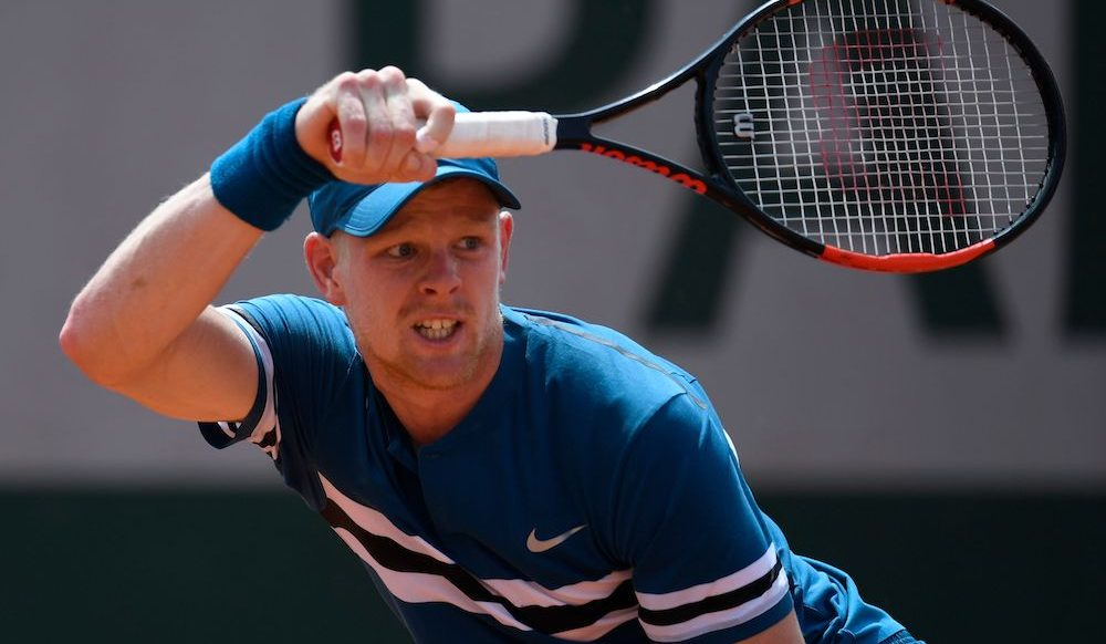 Kyle Edmund in the second round at Roland Garros, 2018