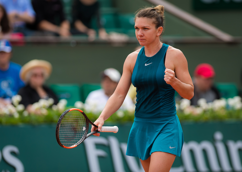 Simona Halep in the first round of the French Open, Roland Garros 2018