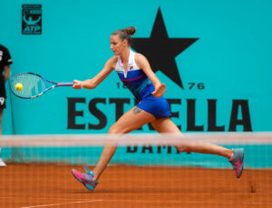 Karolina Pliskova in the third round of the WTA Mutua Madrid Open, 2018