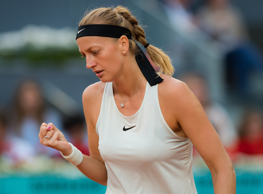 Petra Kvitova in the semi-final of the WTA Mutua Madrid Open, 2018