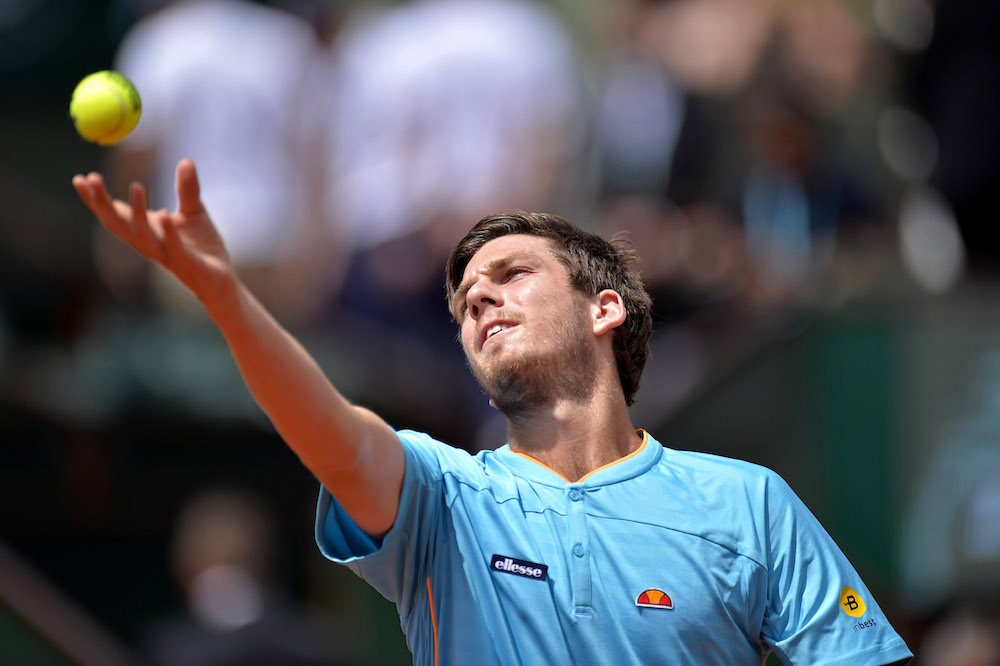 Cameron Norrie in the second round of Roland Garros, 2018