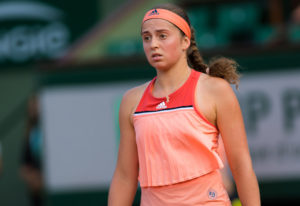 Jelena Ostapenko in the first round of Roland Garros, 2018