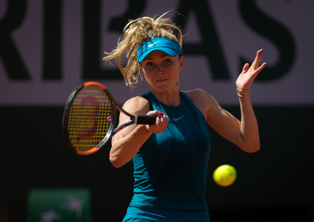 Elina Svitolina in the first round of Roland Garros, 2018