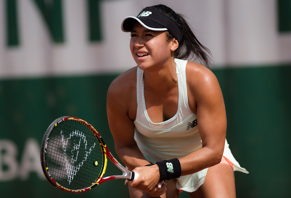 Heather Watson in the second round of Roland Garros, 2018