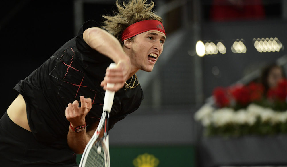 Alexander Zverev in the semi-final of the ATP Mutua Madrid Open, 2018