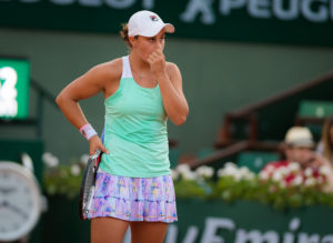 Ashleigh Barty in the second round of Roland Garros, 2018