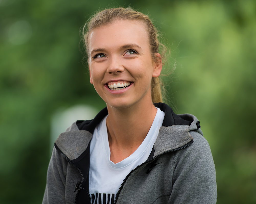 Katie Boulter during All-Access Hour at the Natuew Valley Classic, WTA Birmingham 2018